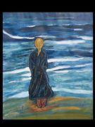 Meereseindruck eines Mädchens am Strand